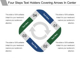 Four Steps Text Holders Covering Arrows In Center