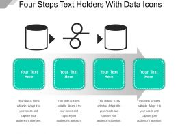 Four Steps Text Holders With Data Icons