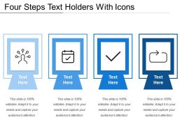 Four Steps Text Holders With Icons