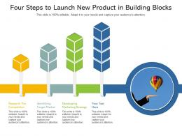 Four Steps To Launch New Product In Building Blocks