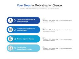 Four Steps To Motivating For Change