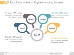 Four Steps To Search Engine Marketing Success Powerpoint Images