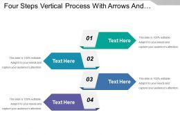 Four Steps Vertical Process With Arrows And Text Boxes
