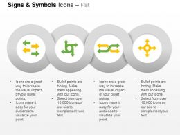 Four Symbols For Direction Ppt Icons Graphics