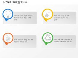 Four Symbols For Green Energy Generation Editable Icons