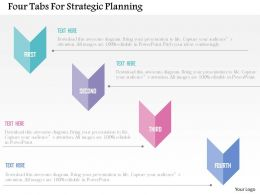 Four Tabs For Strategic Planning Flat Powerpoint Design