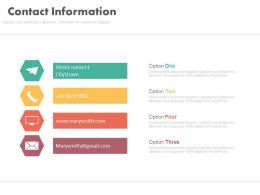 four_tags_and_icons_for_contact_info_powerpoint_slides_Slide01