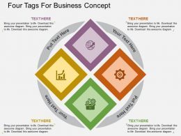 Four Tags For Business Concept Flat Powerpoint Design