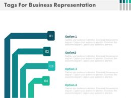 Four Tags For Business Options Representation Flat Powerpoint Design