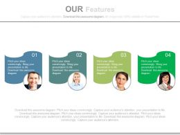 Four Tags For Business Profiles And Features Powerpoint Slides