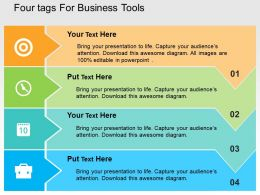 Four Tags For Business Tools Flat Powerpoint Design