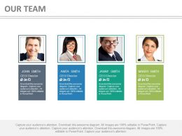 Four Tags For Team Professionals Of Business Powerpoint Slides