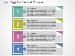 Four Tags For Vertical Process Flat Powerpoint Design