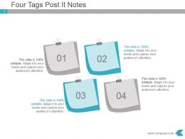 Four Tags Post It Notes Powerpoint Ppt Diagram