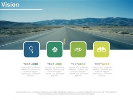Four Tags With Icons For Business Vision Roadmap Powerpoint Slides