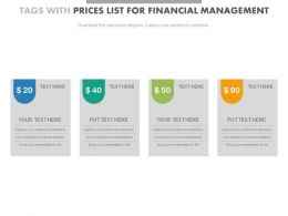 four_tags_with_price_list_for_financial_mangement_powerpoint_slides_Slide01