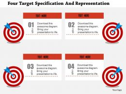 Four Target Specification And Representation Flat Powerpoint Design