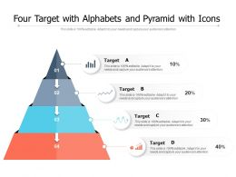 Four Target With Alphabets And Pyramid With Icons