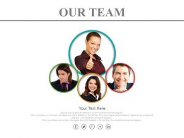 Four Team Expert For Business Growth Powerpoint Slides