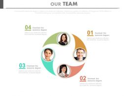 Four Team Members For Business Progress Powerpoint Slides