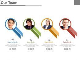 Four Team Members For Business Strategy Powerpoint Slides
