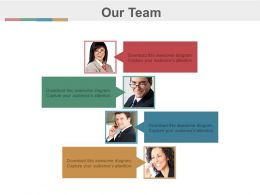 Four Team Members For Communication Powerpoint Slides
