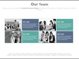 Four Teams For Business Planning Powerpoint Slides