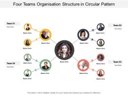 Four Teams Organisation Structure In Circular Pattern