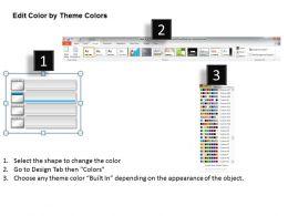 Four Text Boxes Agenda Diagram