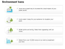 Four Text Icons For Environmental Safety And Green Energy Editable Icons