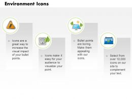 Four Text Icons With Power Generation Symbols Editable Icons