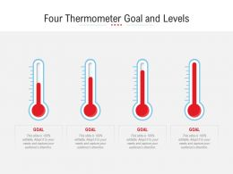 Four Thermometer Goal And Levels