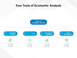 Four Tools Of Economic Analysis
