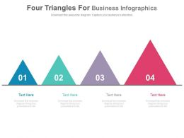 Four Triangles For Business Infographics Powerpoint Slides
