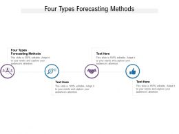 Four Types Forecasting Methods Ppt Powerpoint Presentation Pictures Slides Cpb
