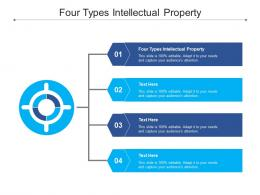 Four Types Intellectual Property Ppt Powerpoint Presentation Styles Templates Cpb