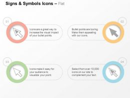 Four Unidirectional Arrows Symbols Ppt Icons Graphics