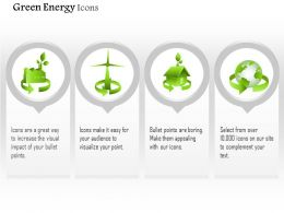 Four Unique Symbols For Green Energy Use Editable Icons