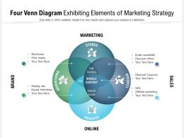 Four Venn Diagram Exhibiting Elements Of Marketing Strategy