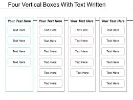 Four Vertical Boxes With Text Written