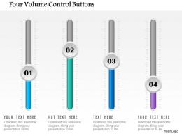 Four Volume Control Buttons Powerpoint Template