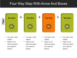 Four Way Step With Arrow And Boxes