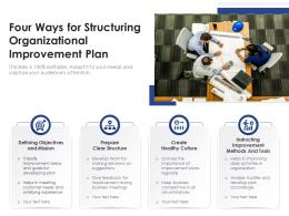 Four Ways For Structuring Organizational Improvement Plan