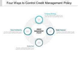 Four Ways To Control Credit Management Policy