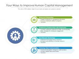 Four Ways To Improve Human Capital Management