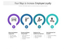 Four Ways To Increase Employee Loyalty