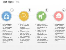 Four Web Icons Team Management Ppt Icons Graphics