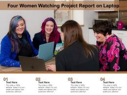 Four Women Watching Project Report On Laptop
