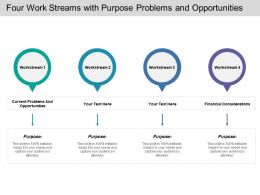 Four Work Streams With Purpose Problems And Opportunities