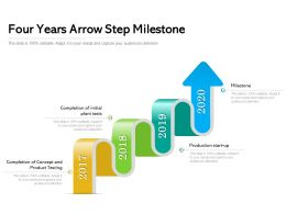 Four Years Arrow Step Milestone